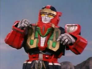 Red Dragon Thunderzord Warrior Mode