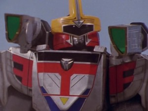 Shadow Force Megazord Mode Red