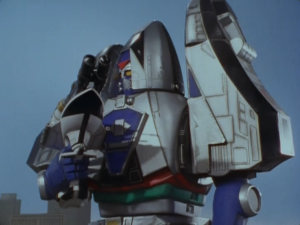 Time Force Megazord Mode Blue