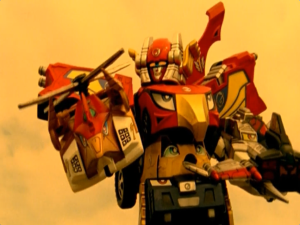 High Octane Megazord Falcon Copter And Tiger Jet