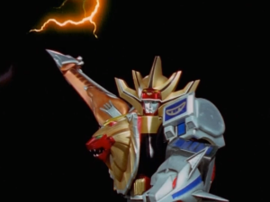 Wild Force Megazord Predator Spear Mode