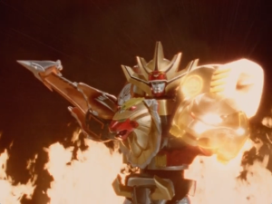 Wild Force Megazord Spear And Knuckle Mode
