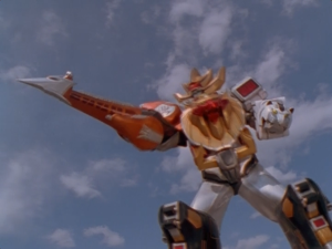 Wild Force Megazord Spear Mode