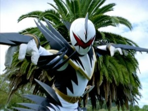 Evil White Ranger Clone Super Dino Mode
