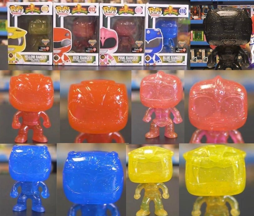 """55b95edbb4e ... 15 (or as the website says the 24th) exclusively to GameStop are these  beautiful """"Morphing"""" style Mighty Morphin  Power Rangers Funko Pop Vinyls!"""
