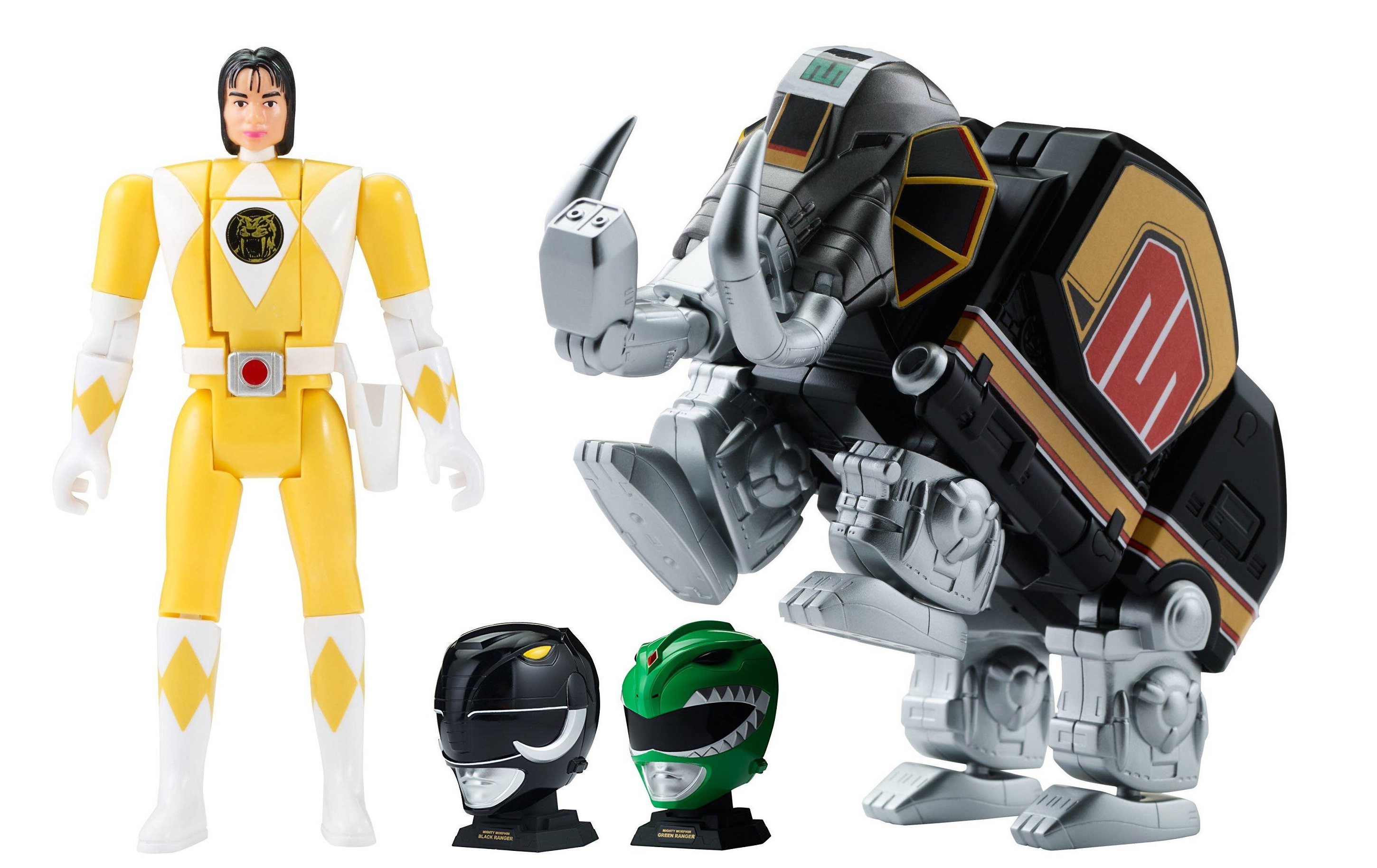 Mastodon Zord with Black Ranger Legacy Collection Mighty Morphin Power Rangers